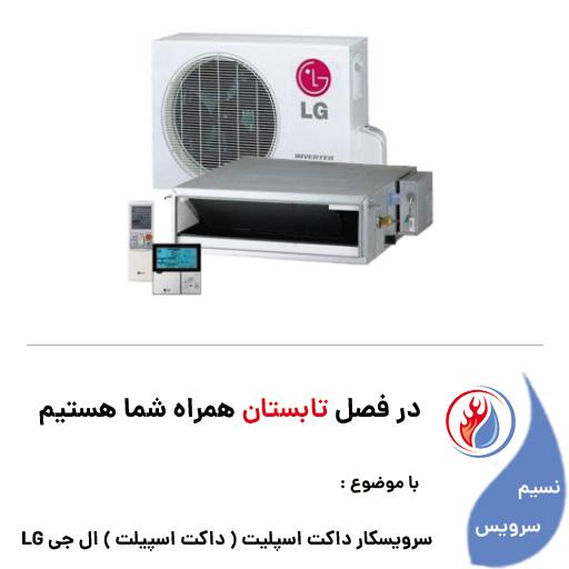 سرویسکار داکت اسپلیت ( داکت اسپیلت ) ال جی LG